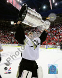 Marc-Andre Fleury Game 7 - 2008-09 NHL Stanley Cup Finals With Trophy