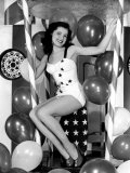 Debra Paget, Age 16, Strikes a Patriotic Pose, 1949