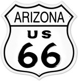 Route 66 Arizona Tin Sign