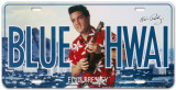 Elvis Blue Hawaii License Plate