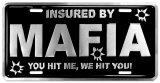 Mafia Auto Tag Tin Sign