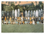 Duke Kahanamoku and Surfing Friends c.1930