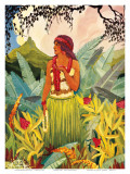 Hawaii Nei, Hula Moons Book Illustration, c.1930