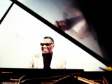Ray Charles in the Studio at RPM International, Los Angeles Premium Poster