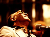Ray Charles in the Recording Studio Premium Poster