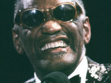 Ray Charles Close Up Premium Poster