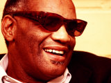 Ray Charles in His Dressing Room Premium Poster