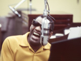 Ray Charles in the Studio Premium Poster