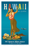 Hawaii By Clipper, Pan American Airways, Hula Girl, c.1950