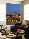 Buy St Peter's Basilica and Ponte Sant'Angelo, Rome, Italy at AllPosters.com