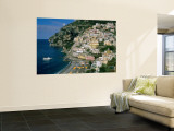 Amalfi Coast, Coastal View and Village, Positano, Campania, Italy