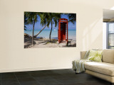 Caribbean, Antigua, Dickenson Bay, English Red Telephone Box