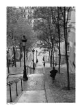 Escaliers a Montmartre, Paris Art Print