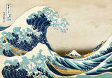 The Great Wave at Kanagawa (from 36 views of Mount Fuji), c.1829 Art Print