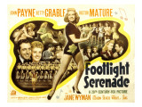 Footlight Serenade, John Payne, Betty Grable, Victor Mature, 1942