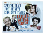 Father of the Bride, Spencer Tracy, Elizabeth Taylor, Joan Bennett, 1950