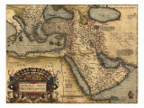 1570 Map of Asia Minor, Then the Ottoman Empire, from Abraham Ortelius