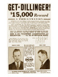 Wanted Poster for John Dillinger, Offering $15,000 for His Capture. 1934