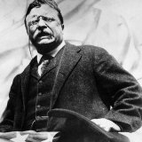 Theodore Roosevelt, Delivering a Campaign Speech, 1900