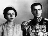 Shah of Iran Mohammad Reza Pahlavi, and Wife Queen Soraya Esfandiary, 1950s