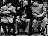 Winston Churchill, Franklin D. Roosevelt and Josef Stalin, Yalta Conference, February 1945