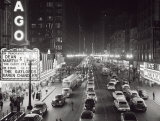 Night Scene of Chicago State Street, c.1953