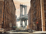 View to the Manhattan Bridge, New York City