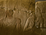 Relief of Hatshepsut and her husband, Thutmosis II Photographic Print
