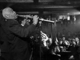 Sidney Bechet Performing in Small Basement Club