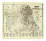 Official Guide Map of City and County of San Francisco, c.1873 Art Print