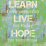 Learn Live Hope Kunstdruck