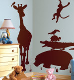 Animal Silhouettes-Brown