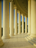 Marble Floor and Columns, Jefferson Memorial, Washington DC, USA
