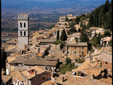 View of Assisi with the Torre Del Popolo