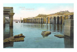 Temple at Phylae at Flooding of Nile