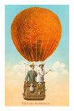 Florida Romance Couple in Orange Balloon