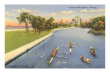 Sculls on Lincoln Park Lagoon, Chicago, Illinois