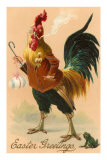 Easter Greetings, Rooster Smoking