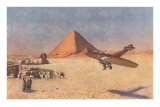Monoplane Landing by Pyramid and Sphinx