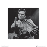 Johnny Cash: The Finger Art Print