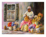 Charleston Basket Lady With Flowers