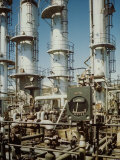 Meter in Fore of Fractionating Column at Union Oil Co. Refinery Built by Bechtel- Mccone-Parsons