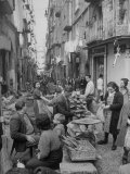 People Buying Bread in the Streets of Naples