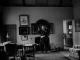 Winston Churchill Standing in His Study at His Home Chartwell
