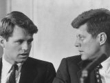 Senators Robert and John F. Kennedy, During a Senate Comm. Hearing Regarding the Kohler Strike Photographic Print