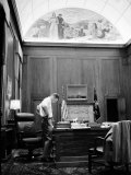 Attorney General Robert F. Kennedy Working Late into the Night in His Office,