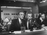 Walter Cronkite and Averell Harriman, Cbs News Coverage for the Democratic National Convention