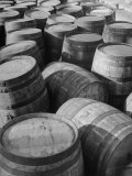 Barrels Sitting in Warehouse at Jack Daniels Distillery Photographic Print