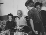 Artist Marc Chagall with His Family at their Home