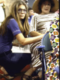 Gloria Steinem Kneeling Down Beside Bella Abzug During the Democratic Convention